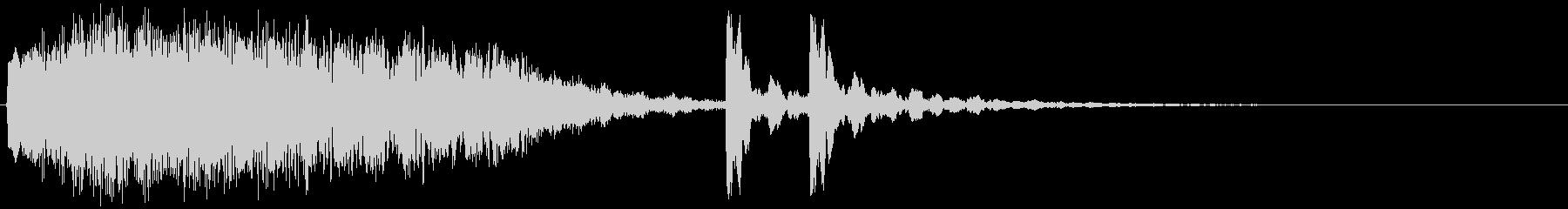5,宇宙&和風サウンドロゴ (3秒ロゴ)の未再生の波形