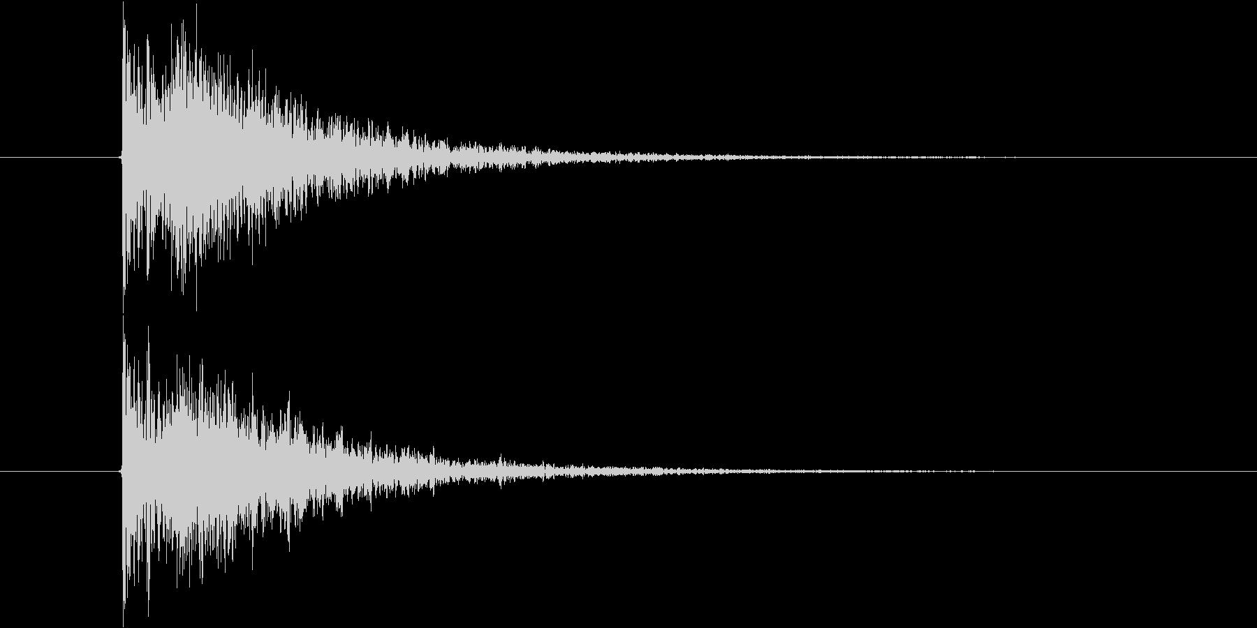 カン 拍子木1回の未再生の波形