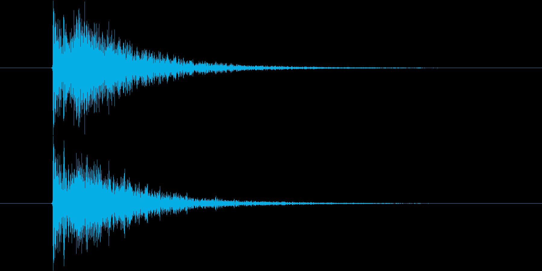 カン 拍子木1回の再生済みの波形