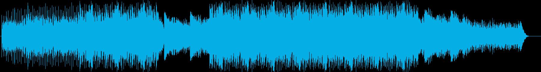 ソフトで静かな雰囲気のあるBGMの再生済みの波形