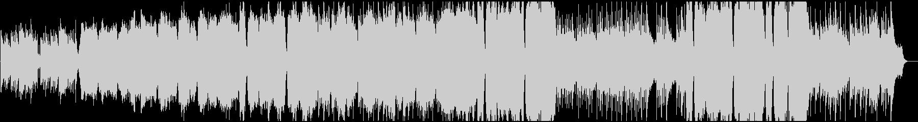 切なさから前を向くイメージのBGMの未再生の波形