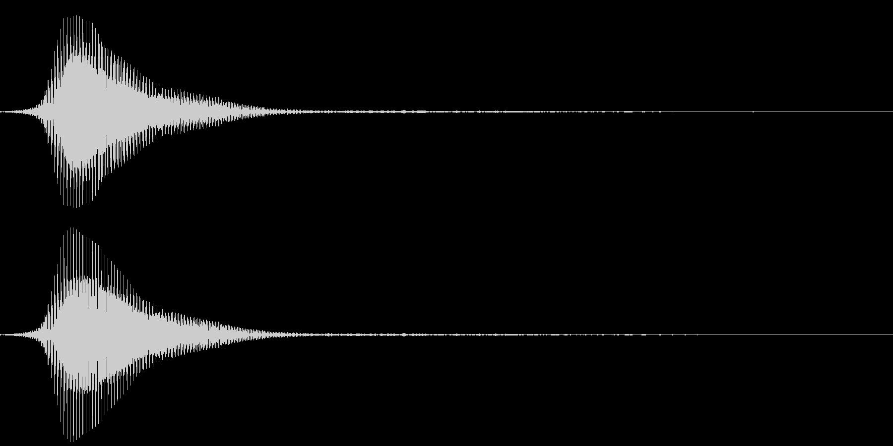 電車のクラクション(小さく鳴らす)の未再生の波形