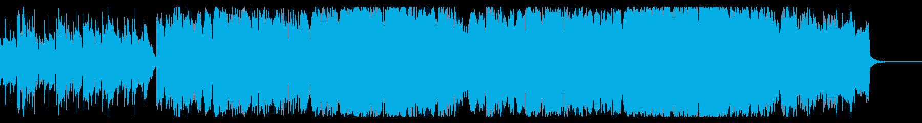 ドラマチックな和風オーケストラBGMの再生済みの波形