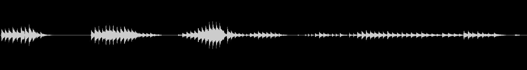 げっぷ長い男性の噴出の未再生の波形