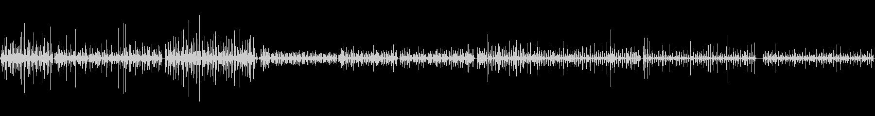歯磨きの音の未再生の波形