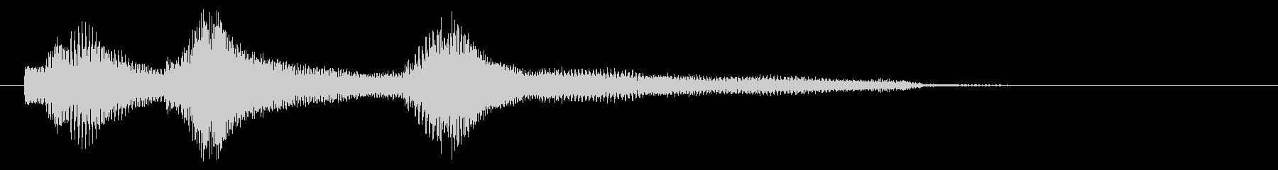 サウンドロゴ(ピアノ)の未再生の波形