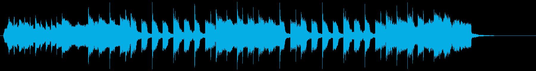 静かで暖かいエレクトロニックサウンドの再生済みの波形