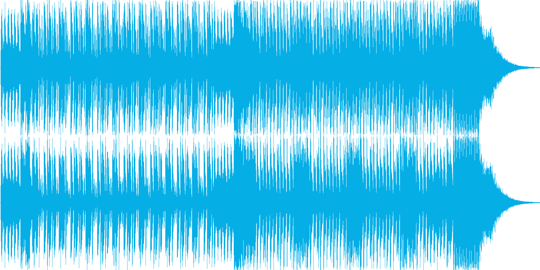 登場、オープニングシーンの再生済みの波形