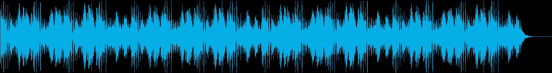 日常系 優しい雰囲気のアコギ曲の再生済みの波形