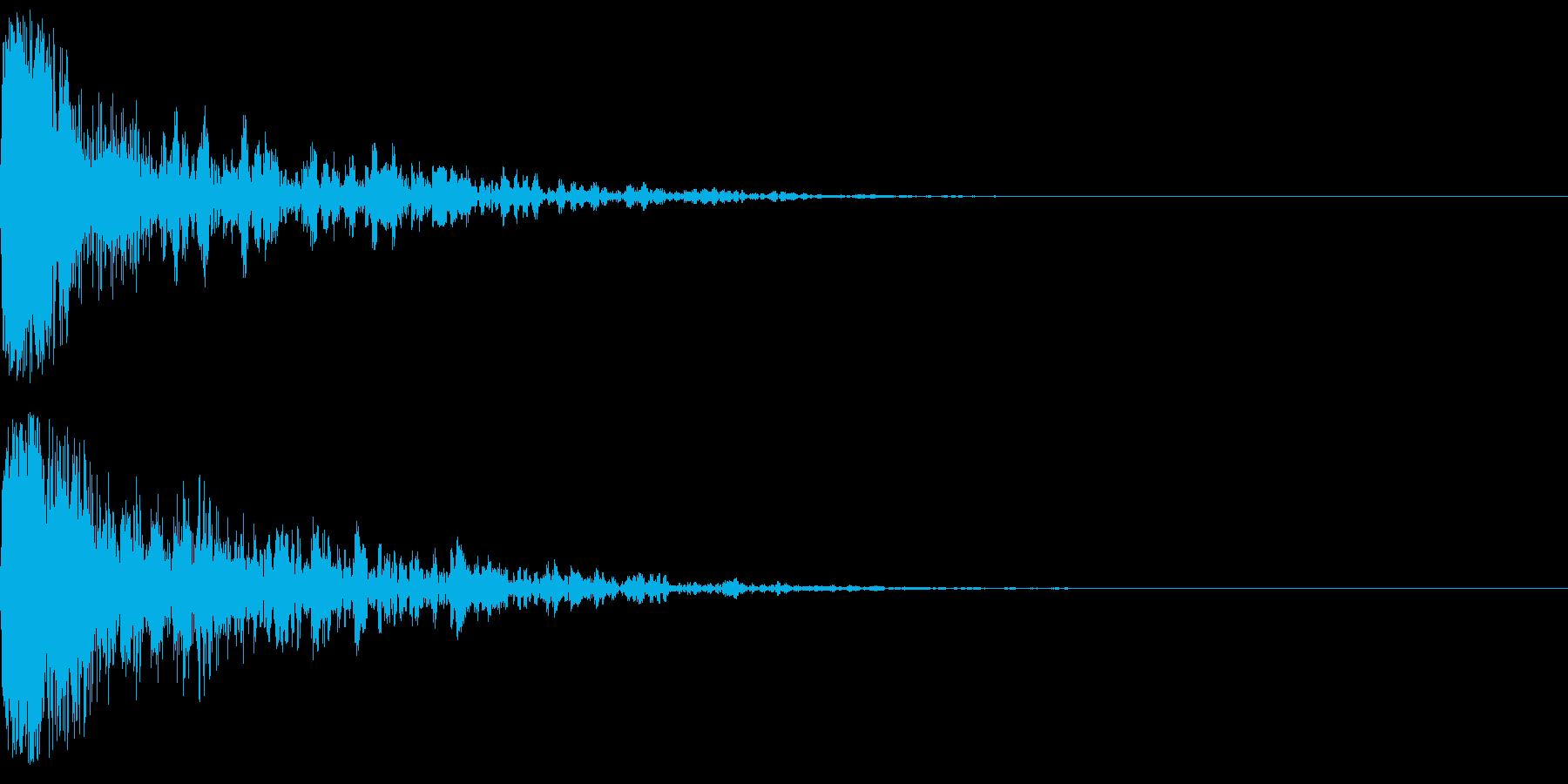 ドーン-56-1(インパクト音)の再生済みの波形