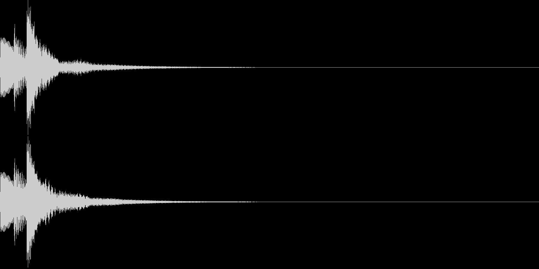 キラん☆シンプルな発見音 選択音 入手音の未再生の波形