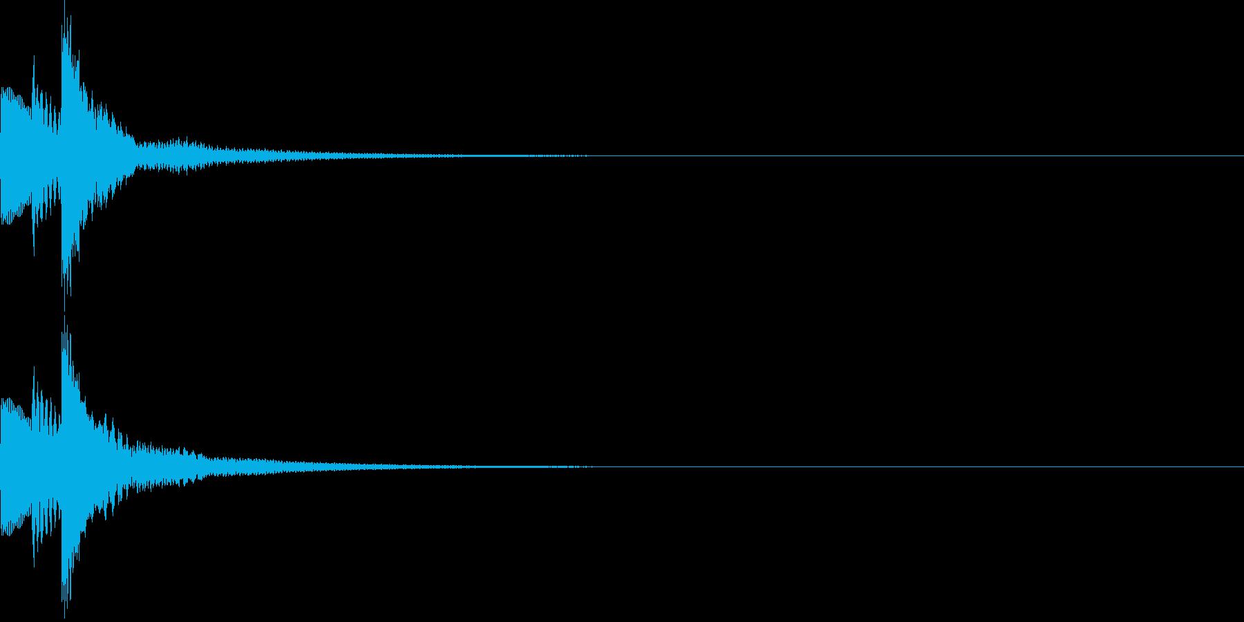 キラん☆シンプルな発見音 選択音 入手音の再生済みの波形