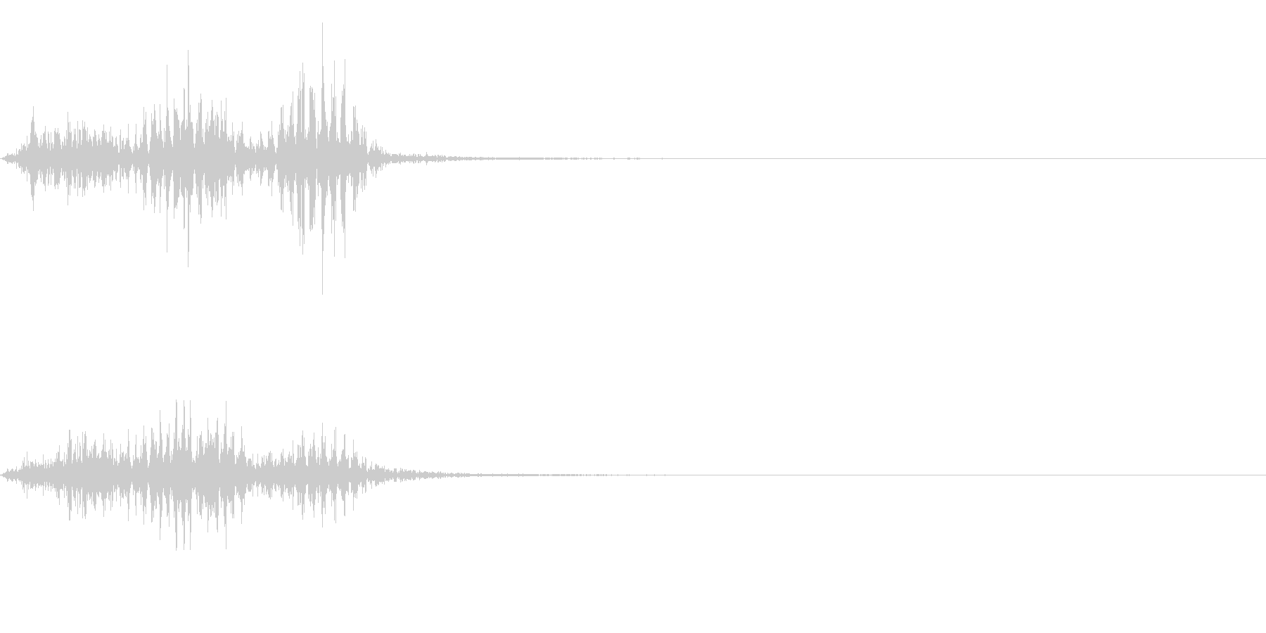 【生録音】フラミンゴの鳴き声 38の未再生の波形
