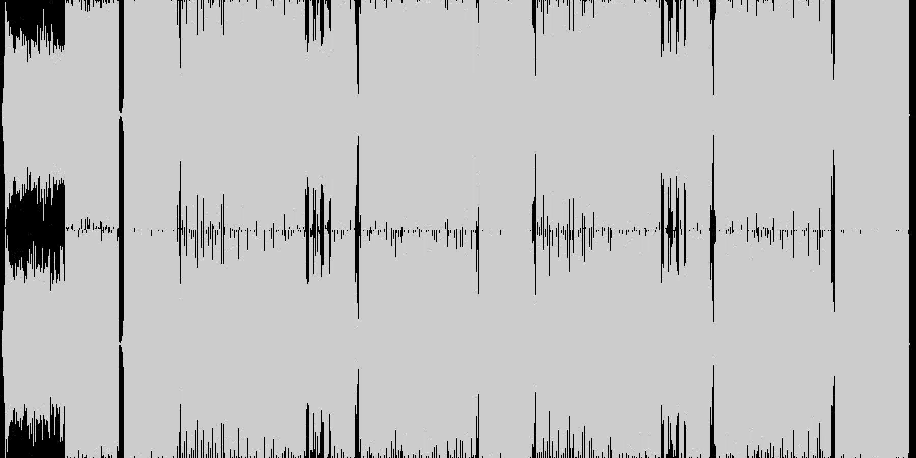 明るく可愛い、キラキラしたシンセの未再生の波形