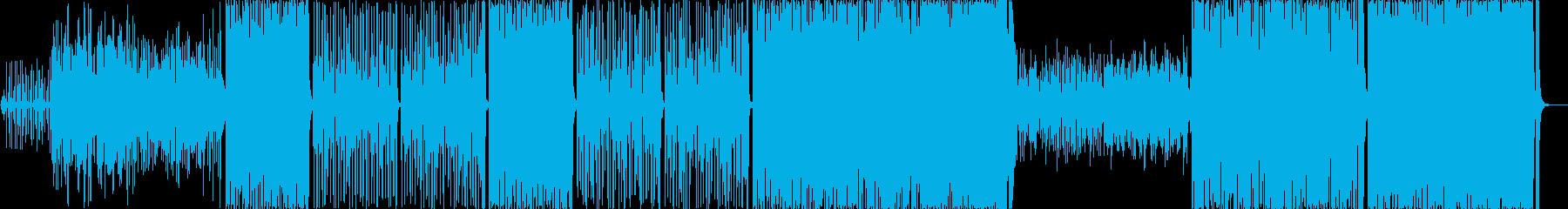 民族調、アコギとアコーディオンBGMの再生済みの波形
