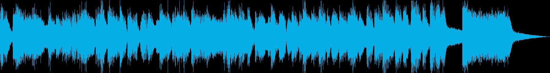 ブラス主体のコミカルなジングルの再生済みの波形