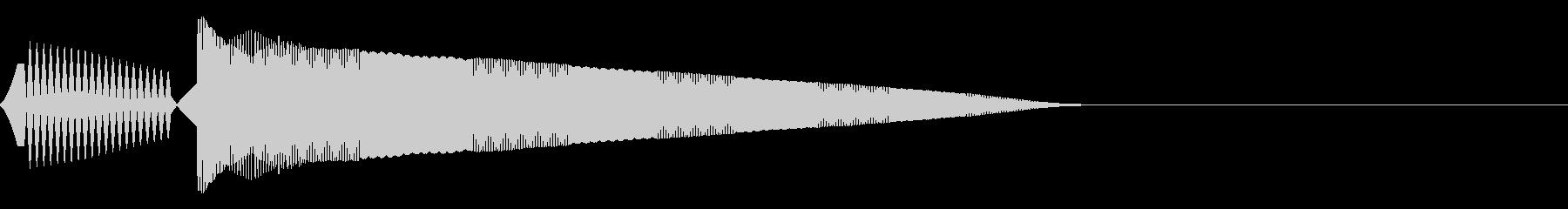 ポヨーン(決定/選択/かわいい/ピコピコの未再生の波形