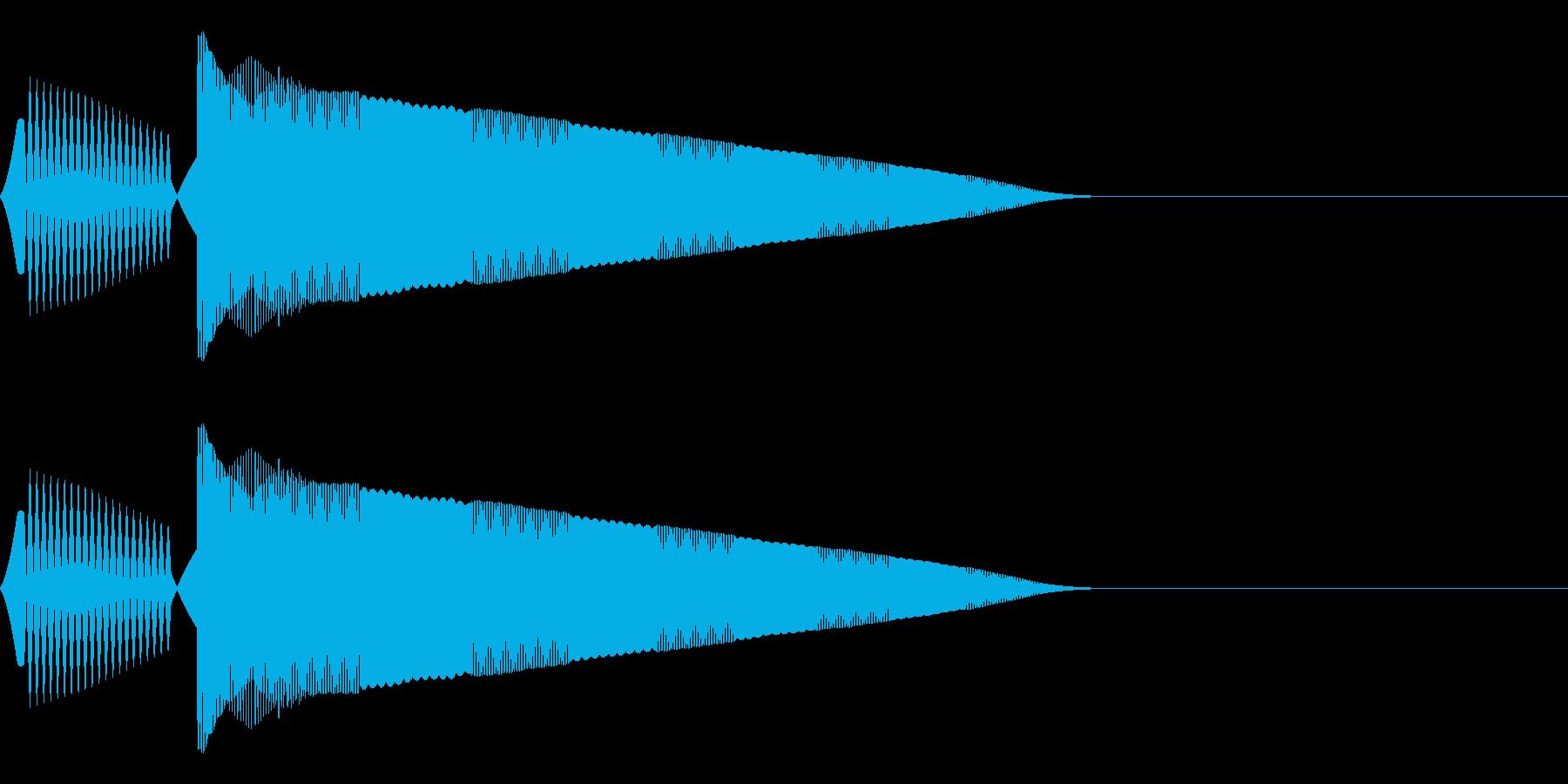 ポヨーン(決定/選択/かわいい/ピコピコの再生済みの波形