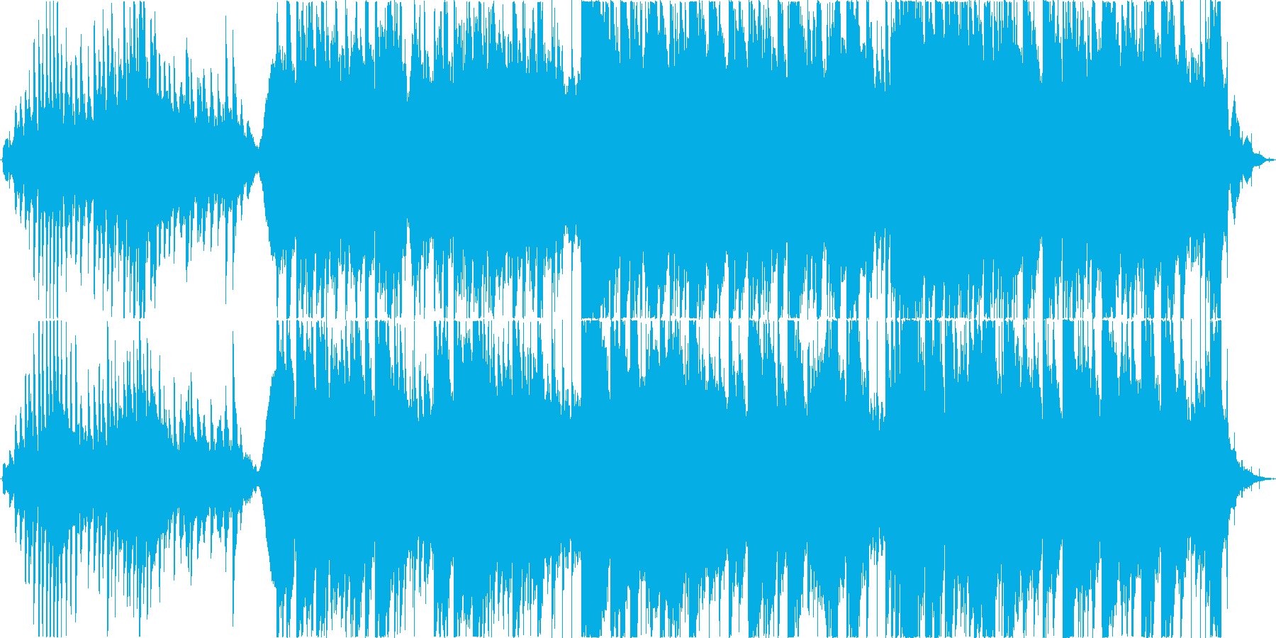 幻想的で雨の日を感じるピアノアンビエントの再生済みの波形