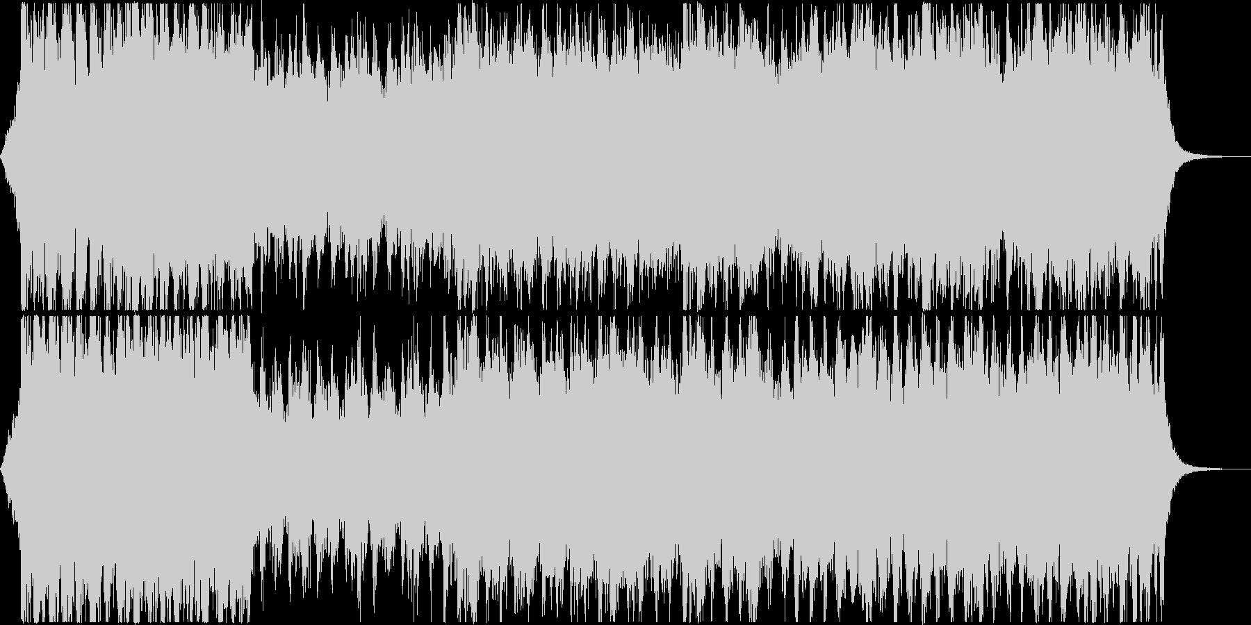 壮大なRPG風BGMの未再生の波形