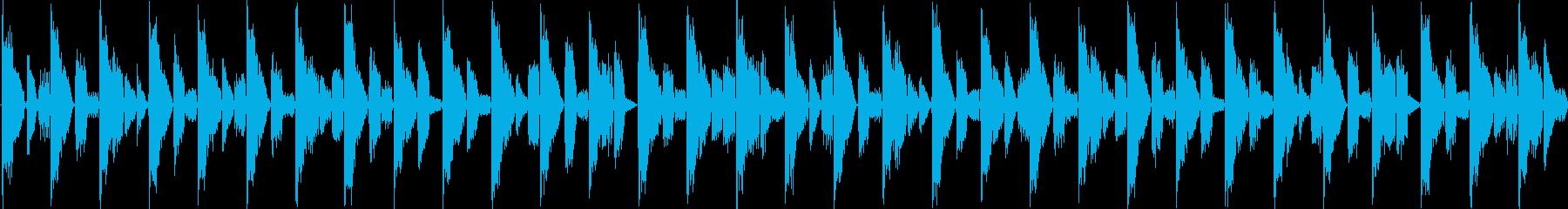 リズムを強調した楽曲です。淡々と伸びや…の再生済みの波形