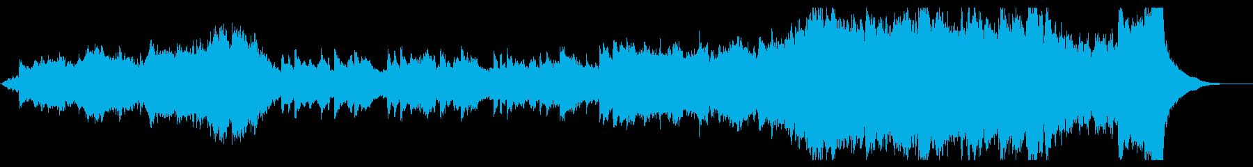 オーケストラとピアノのエンディング曲の再生済みの波形