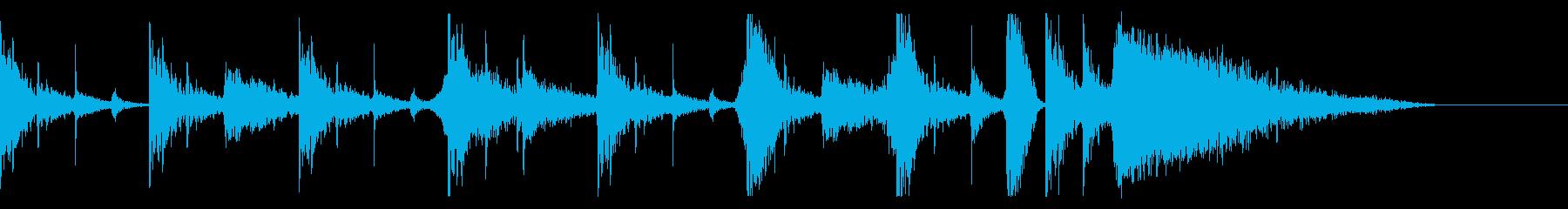 ミュージカル、パーカッシブ、リズミ...の再生済みの波形