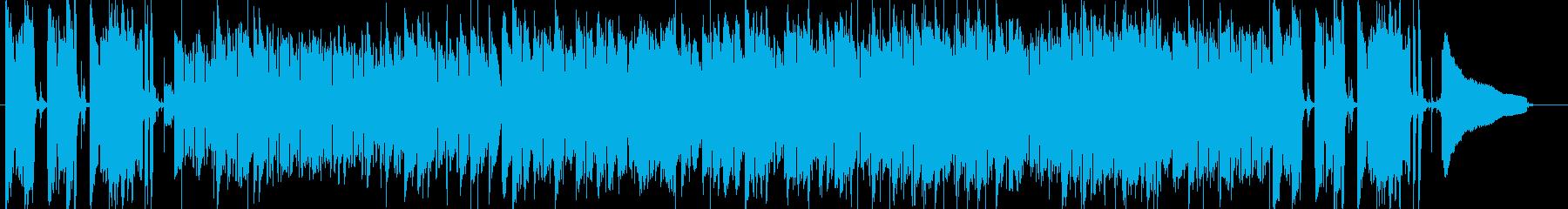 パーカッションが印象的な暖かなボサノバの再生済みの波形