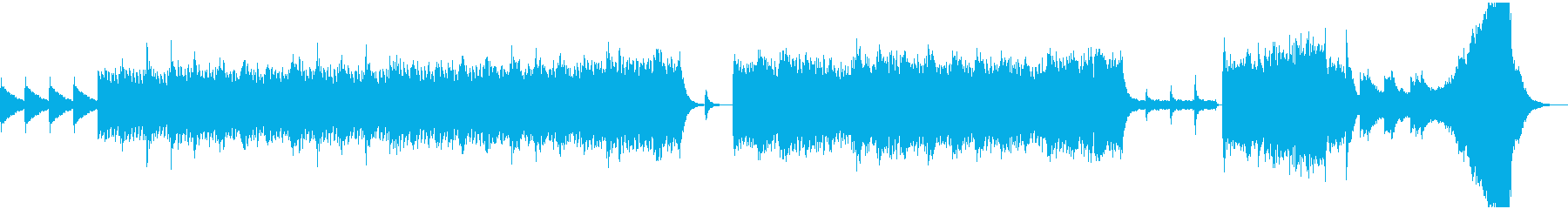 息を呑む程の恐怖を感じた時の曲の再生済みの波形