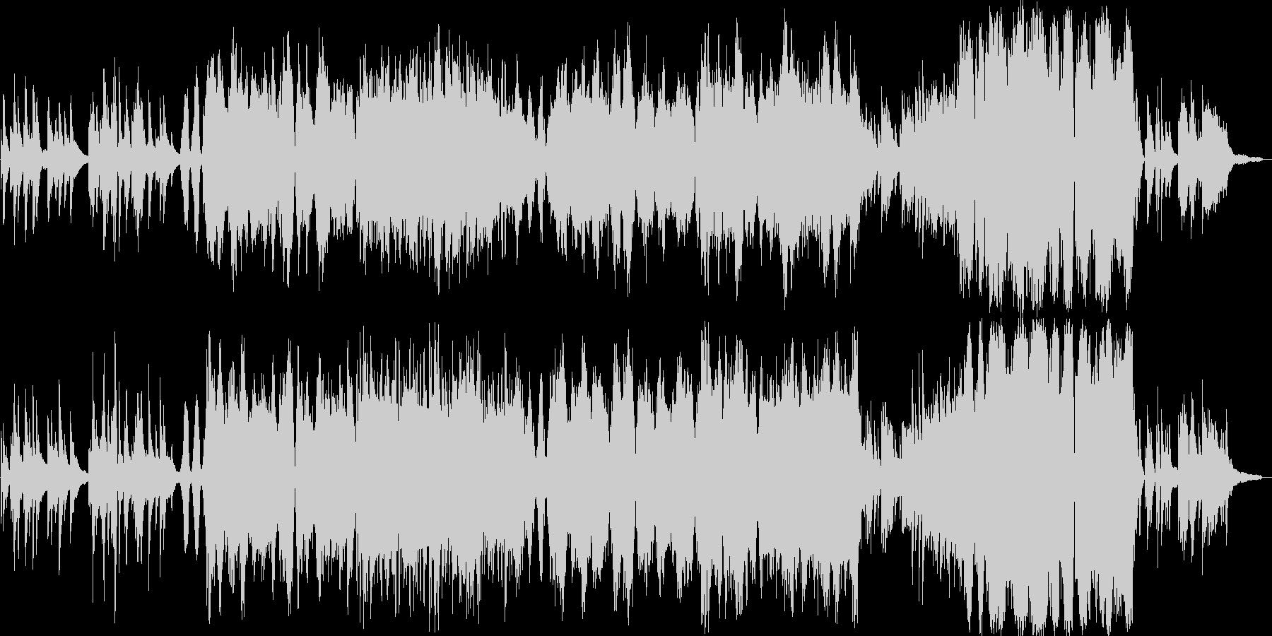 ゆったりと流れるオーケストラの未再生の波形