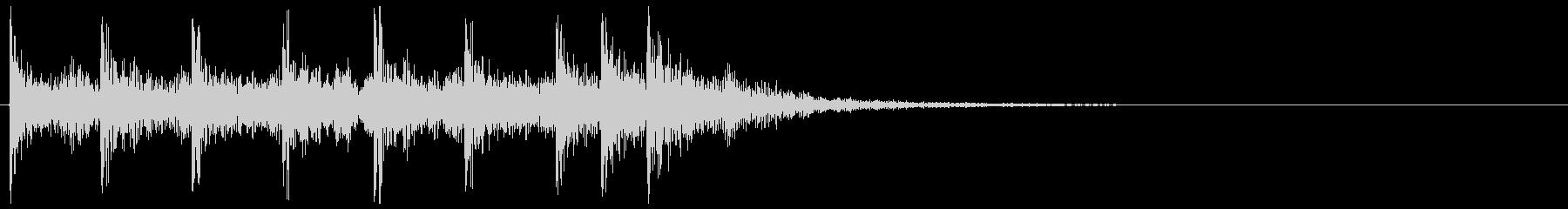ティンパニ、打楽器の場面転換 クリアの未再生の波形