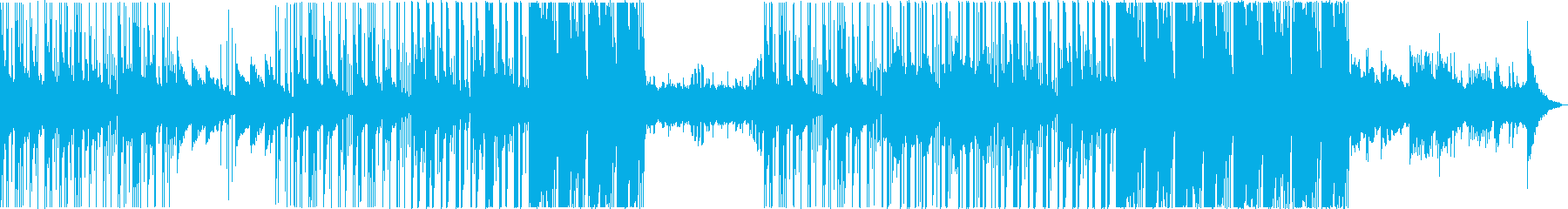 神秘的で夢のような曲の再生済みの波形