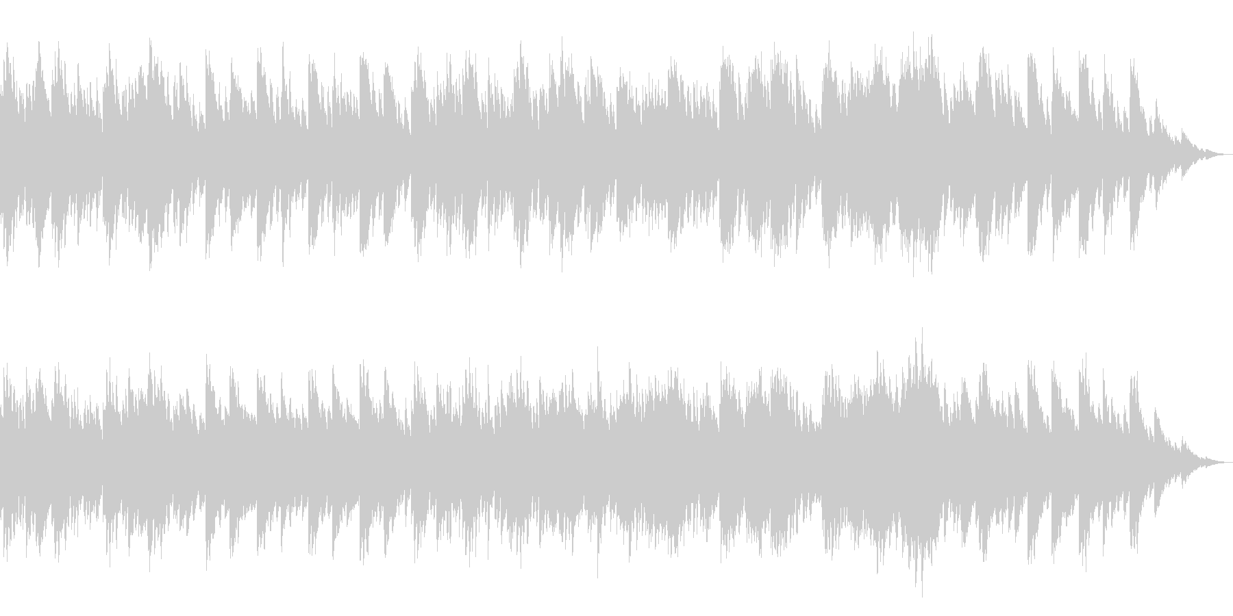 ゆったりと幻想的なピアノソロ曲の未再生の波形