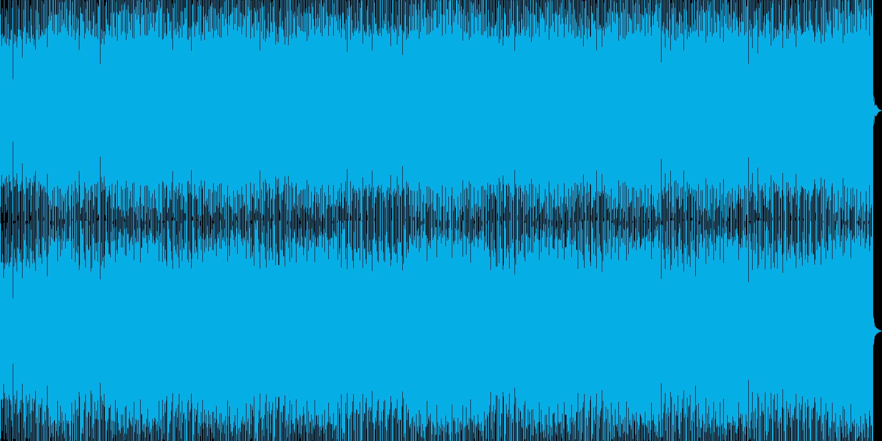 トーク用、陽気で元気でポップな曲の再生済みの波形