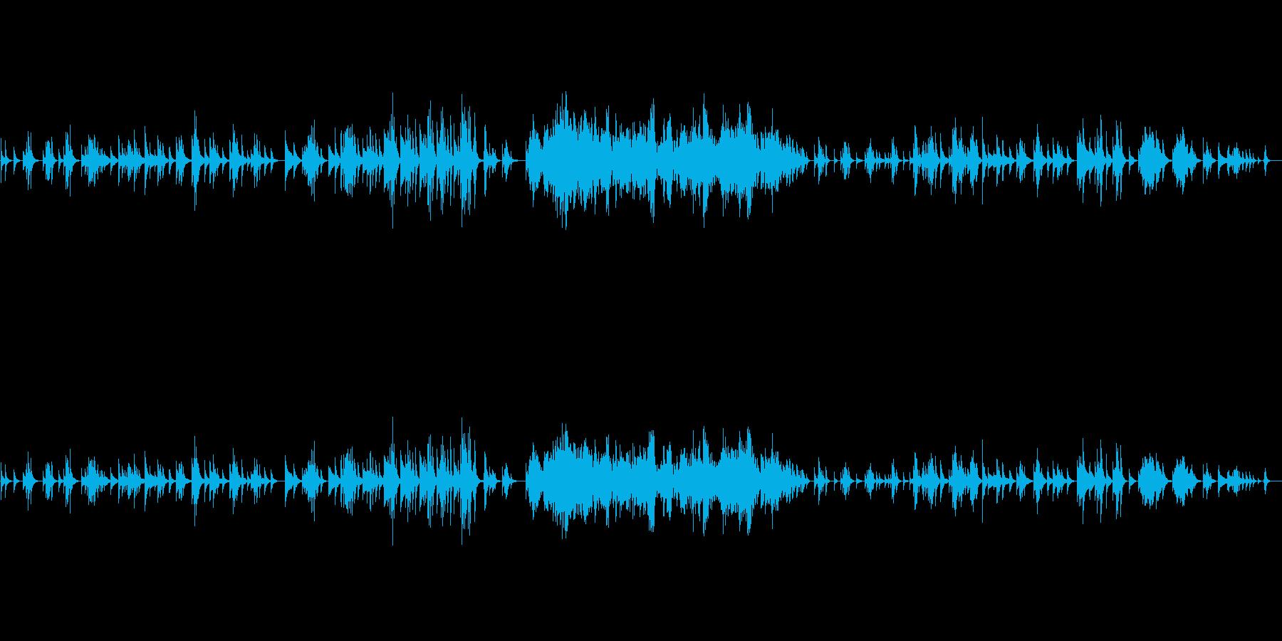 幻想的、ハープソロ『月の光』の再生済みの波形