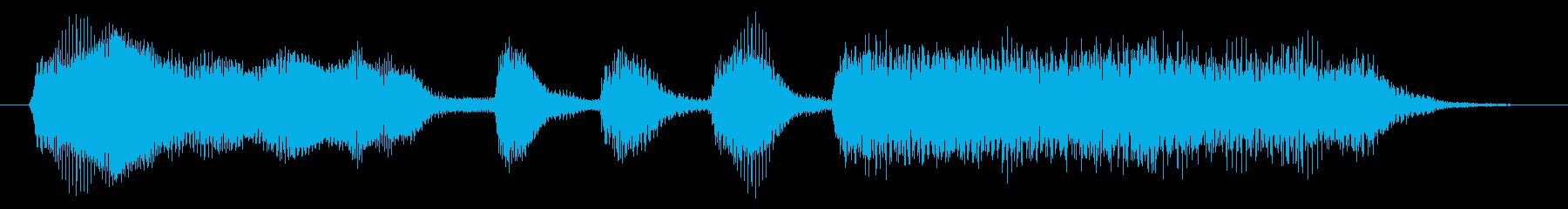 ストリングスの重い雰囲気のジングルの再生済みの波形