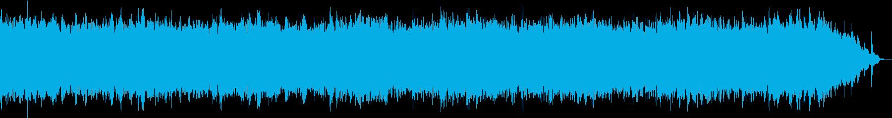 良く眠れる528Hzの音楽の再生済みの波形