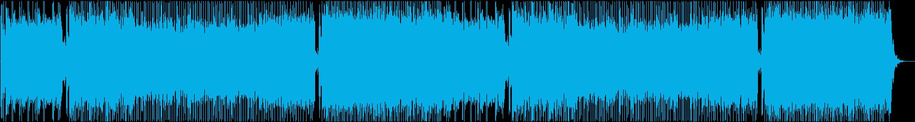 ロックなレース曲01の再生済みの波形