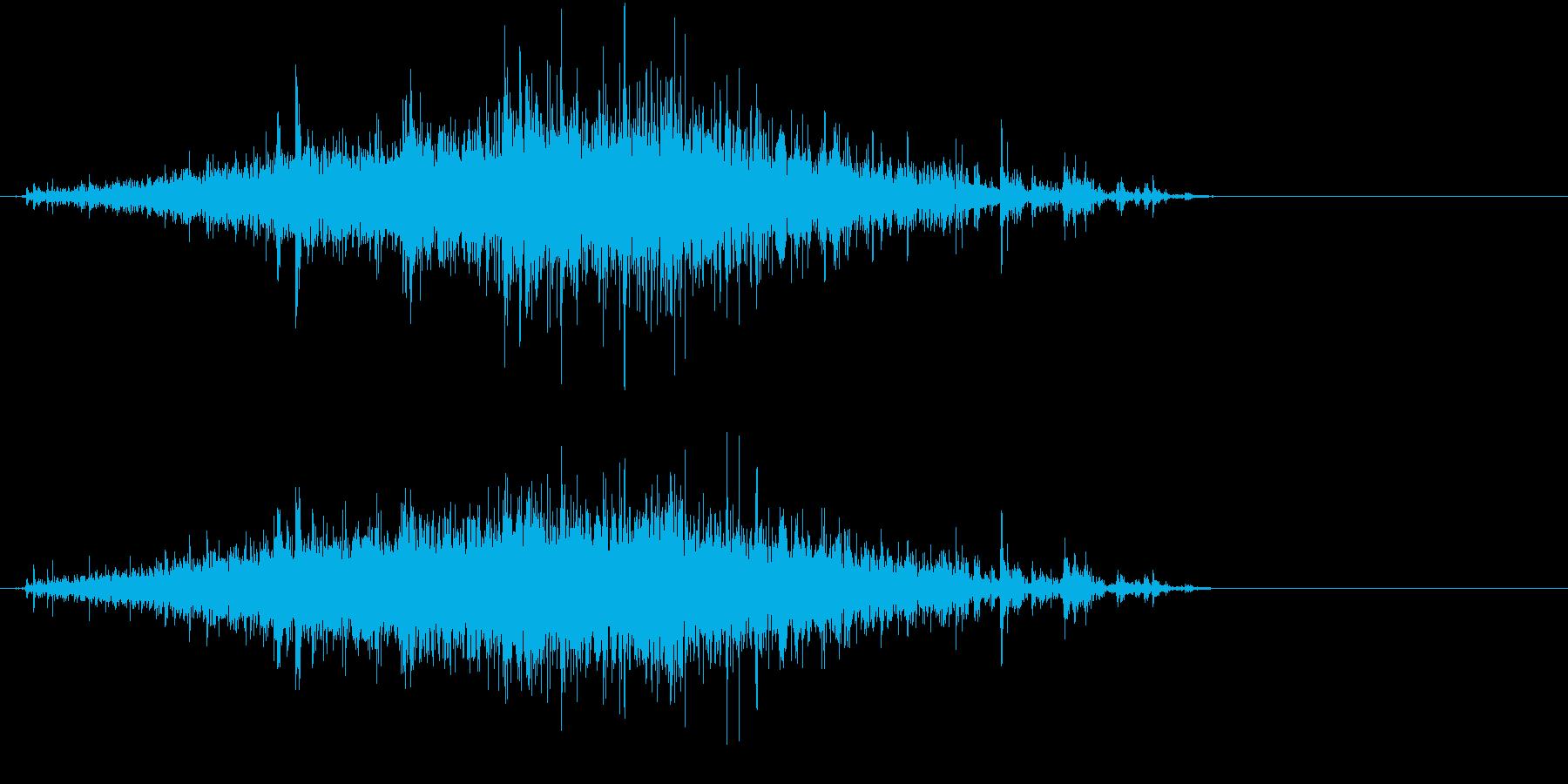 【生録音】米粒(生米)を取り出す音 1の再生済みの波形