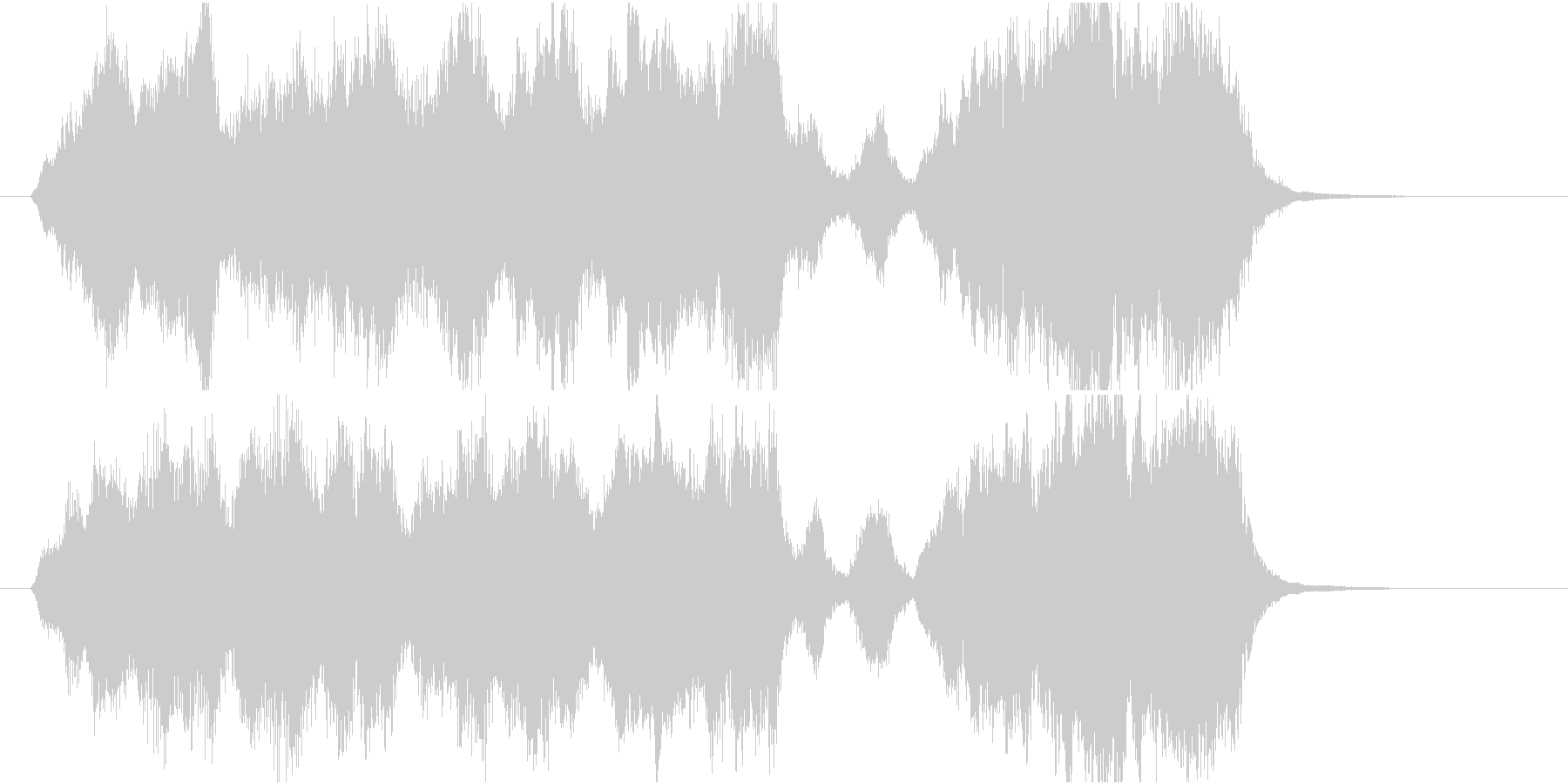 15秒CMサイズの17 癒しの弦楽四重奏の未再生の波形