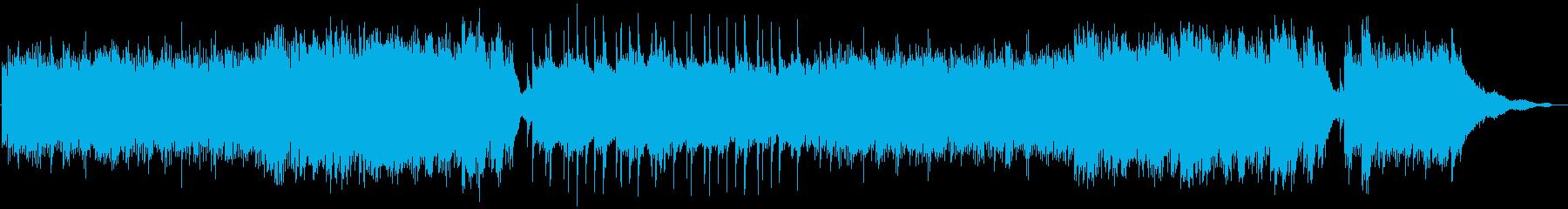 疾走感ドラマチック臨場感あふれるピアノ曲の再生済みの波形