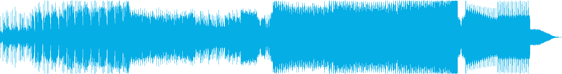 【EDM】アグレッシブ、パワーのある音の再生済みの波形