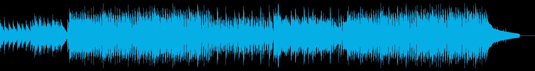 エモいコード進行のアンニュイEDMロックの再生済みの波形