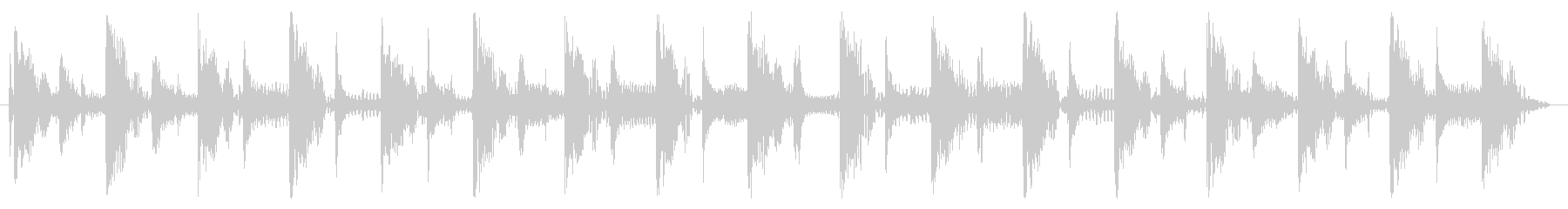 ベース生演奏のクールスラップジングル05の未再生の波形