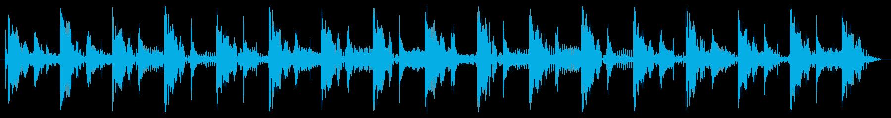 ベース生演奏のクールスラップジングル05の再生済みの波形