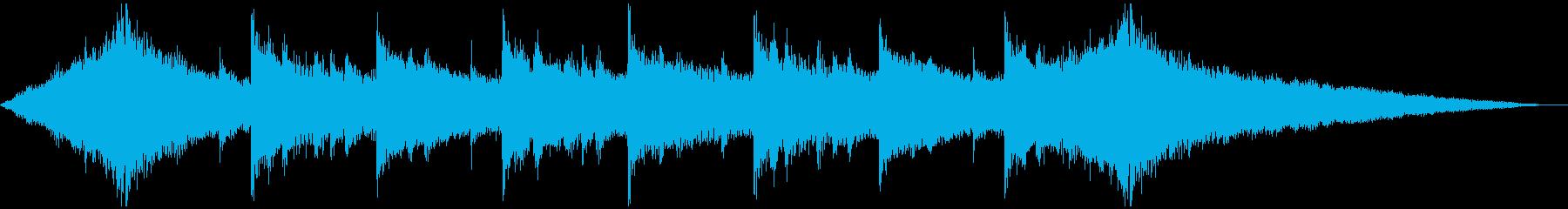 明るいジングル、企業VPの再生済みの波形