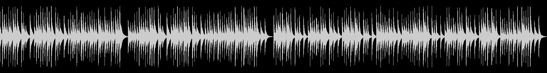 解説や作業動画に合う可愛い木琴(ループの未再生の波形