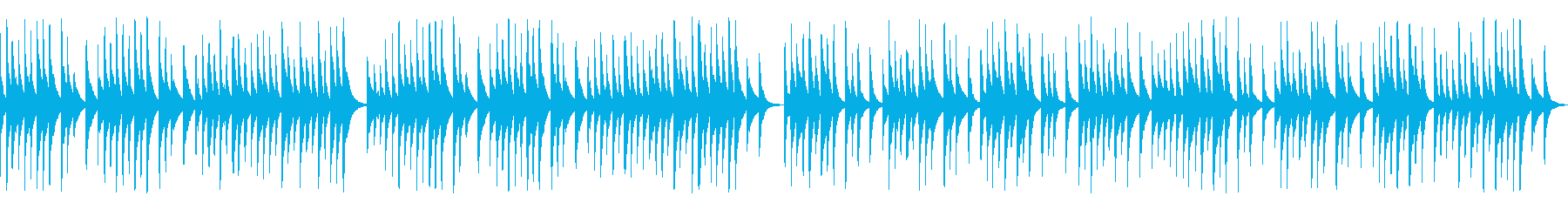 解説や作業動画に合う可愛い木琴(ループの再生済みの波形