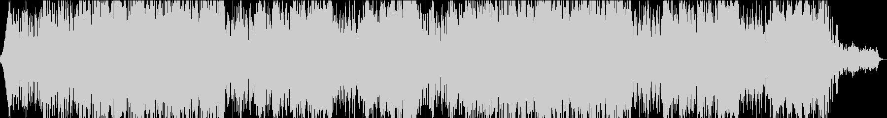 大河ドラマ風のオーケストラBGMの未再生の波形