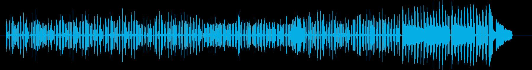 動物の赤ちゃんをイメージしたほのぼの曲の再生済みの波形